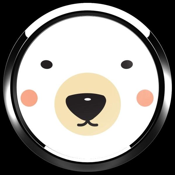 ゴーバッジ(ドーム)(CD0889 - Seasonal Polar Bear) - 画像3