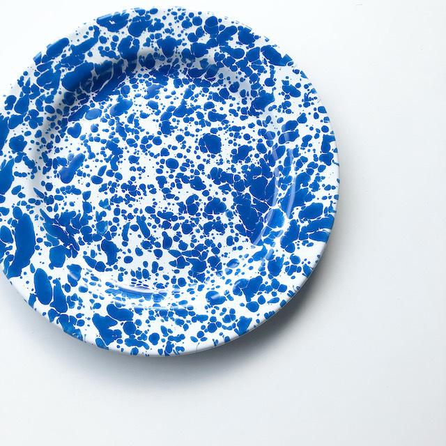 "CROW CANYON HOME ""SALAD PLATE BLUE"" φ20cm"