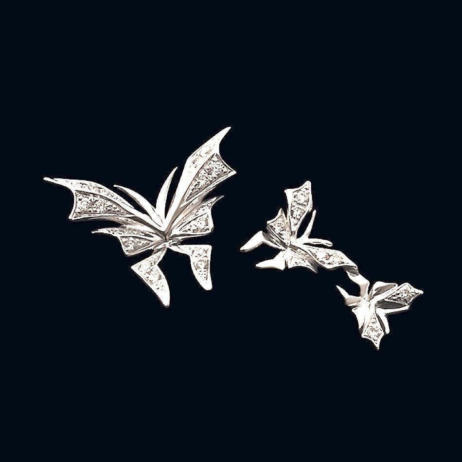 jg <Freely> ピアス K18/ダイヤモンド
