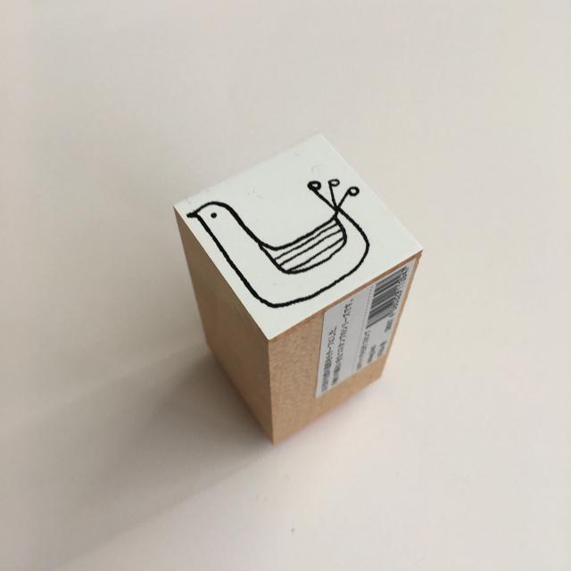 カタチ×ソラモヨウスタンプ sitting bird