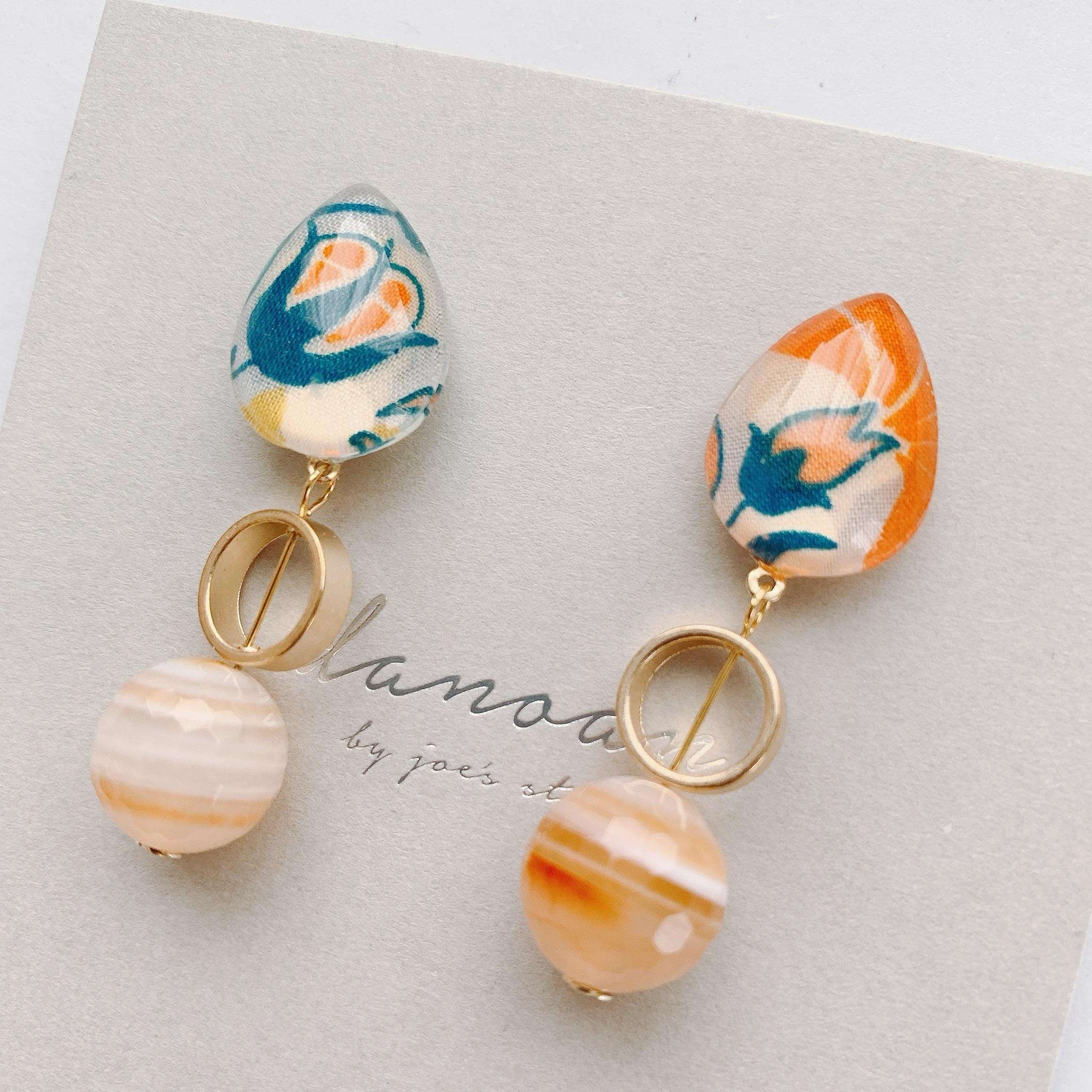 """ Earrings NO.danoan-1-1849″ リバティと天然石"