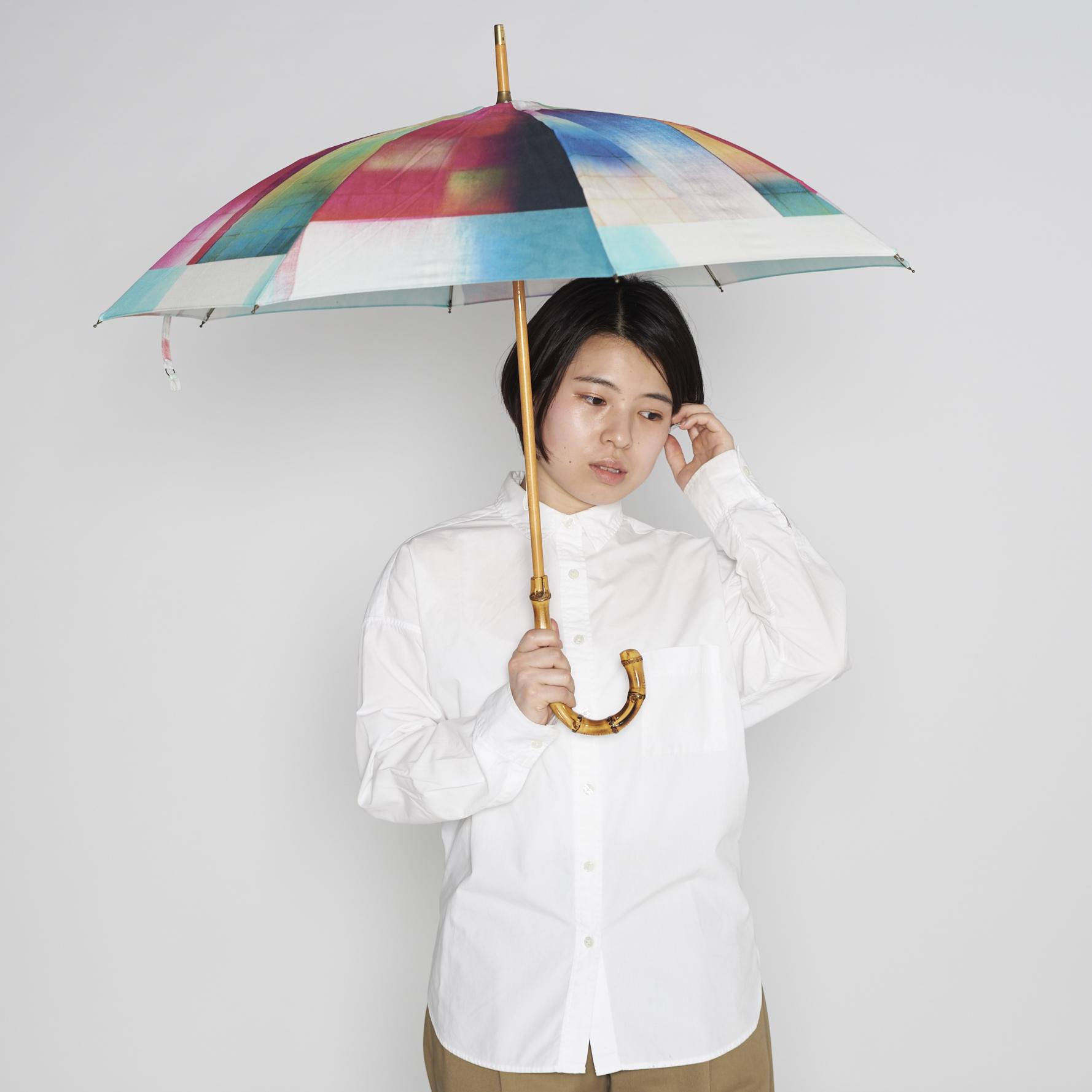 晴雨兼用日傘・長傘 - STONE BLOCK - 1color
