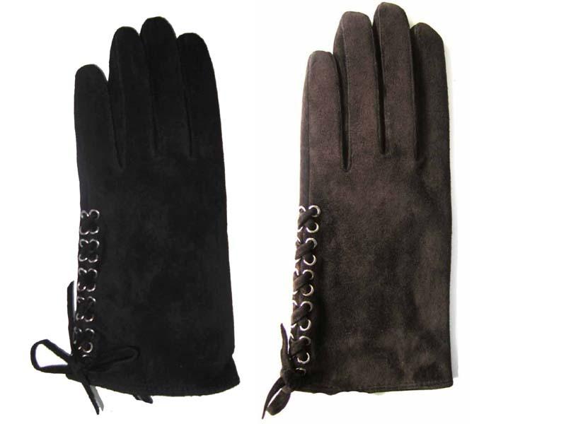 Solnexスエード本革手袋/黒/ブラウン てぶくろ/革/レディース/メンズ/上品/可愛い fx10006