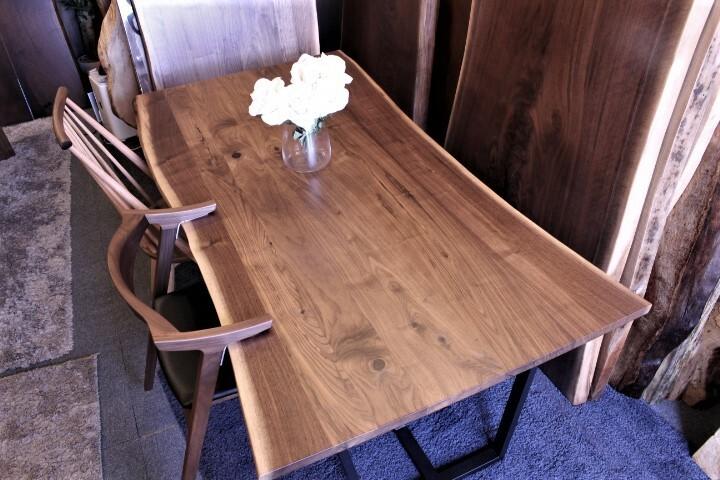 ウォールナット 無垢テーブル 1800×940‐950×27 18392