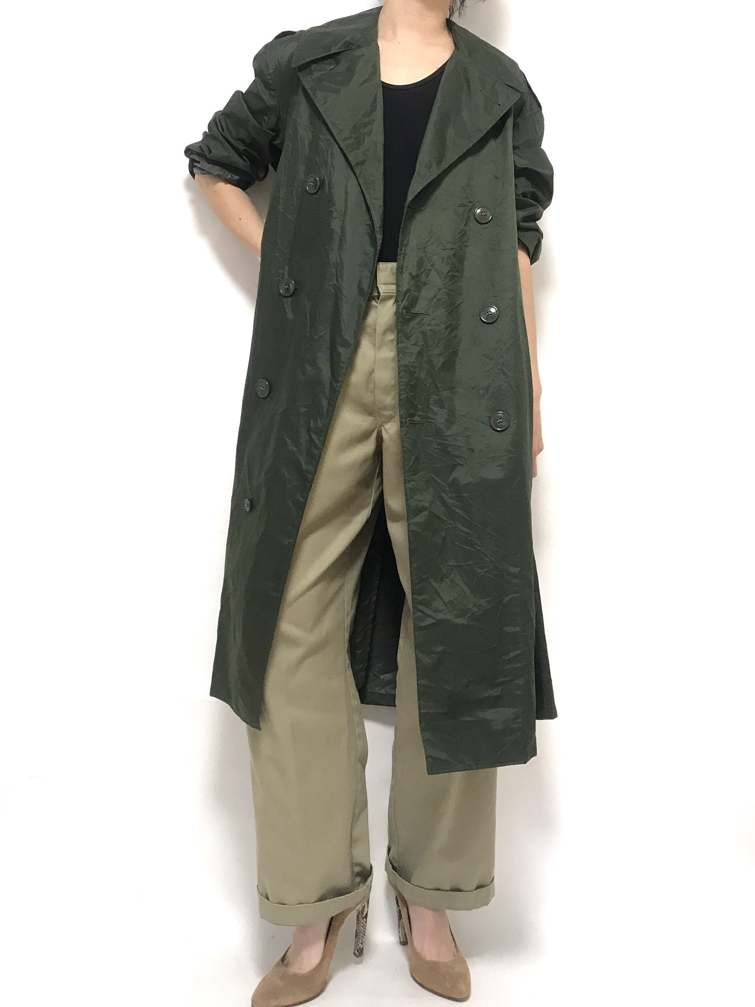 70's U.S. Army Raincoat Short 36