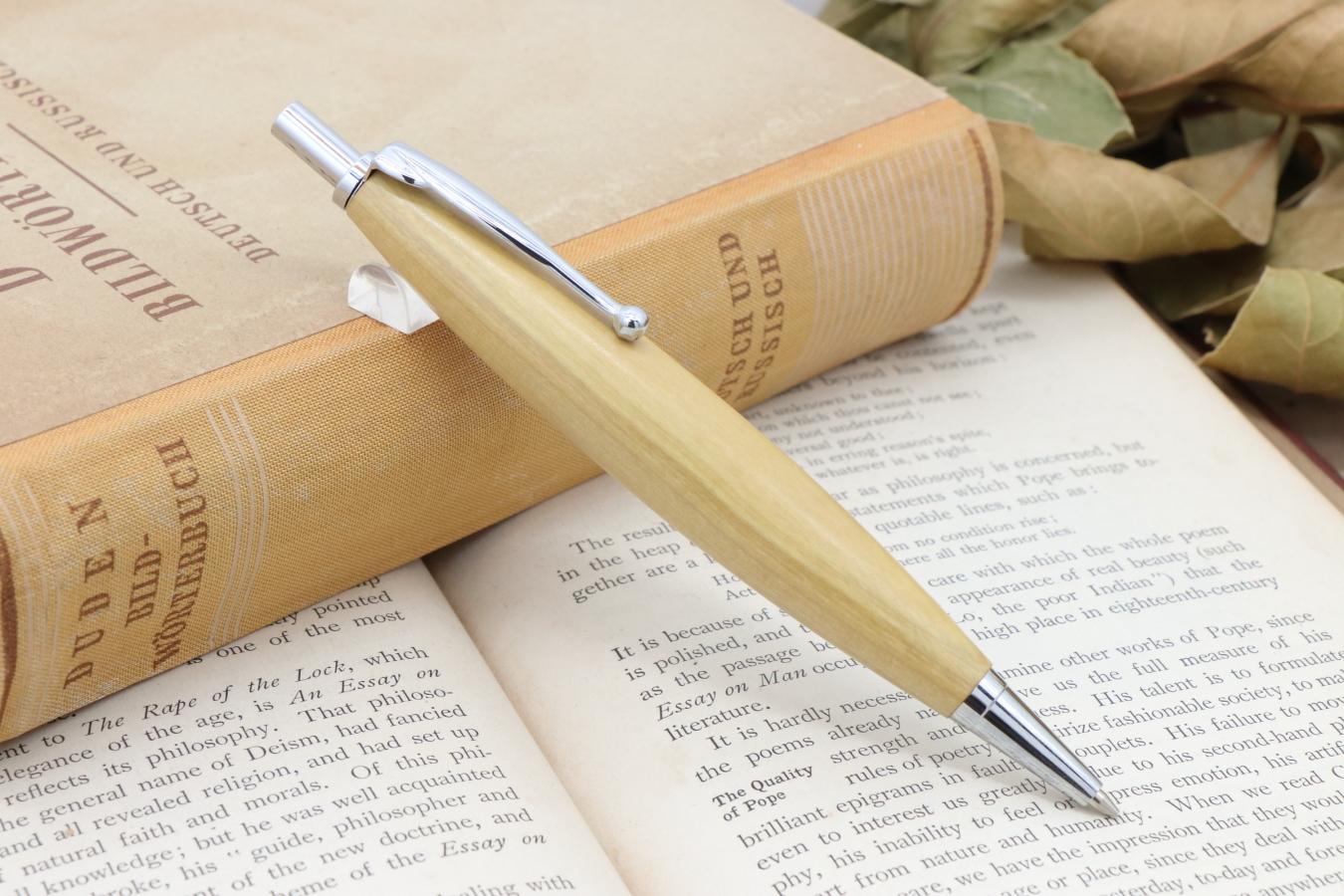 受注制作「Luna Pencil Ⅱ 0.7mm・最高級 御蔵島産 ツゲ」 Viriditas手作りシャープペンシル