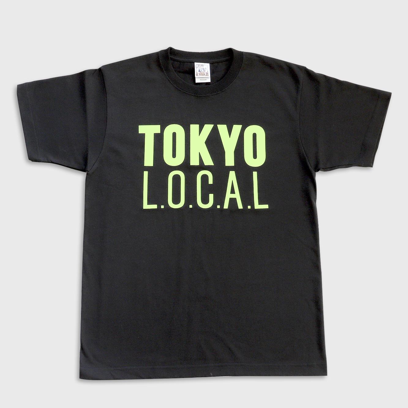 「ベーシックロゴ」 TOKYO L.O.C.A.L 蛍光カラー Tシャツ(バックプリント:ROOM810)