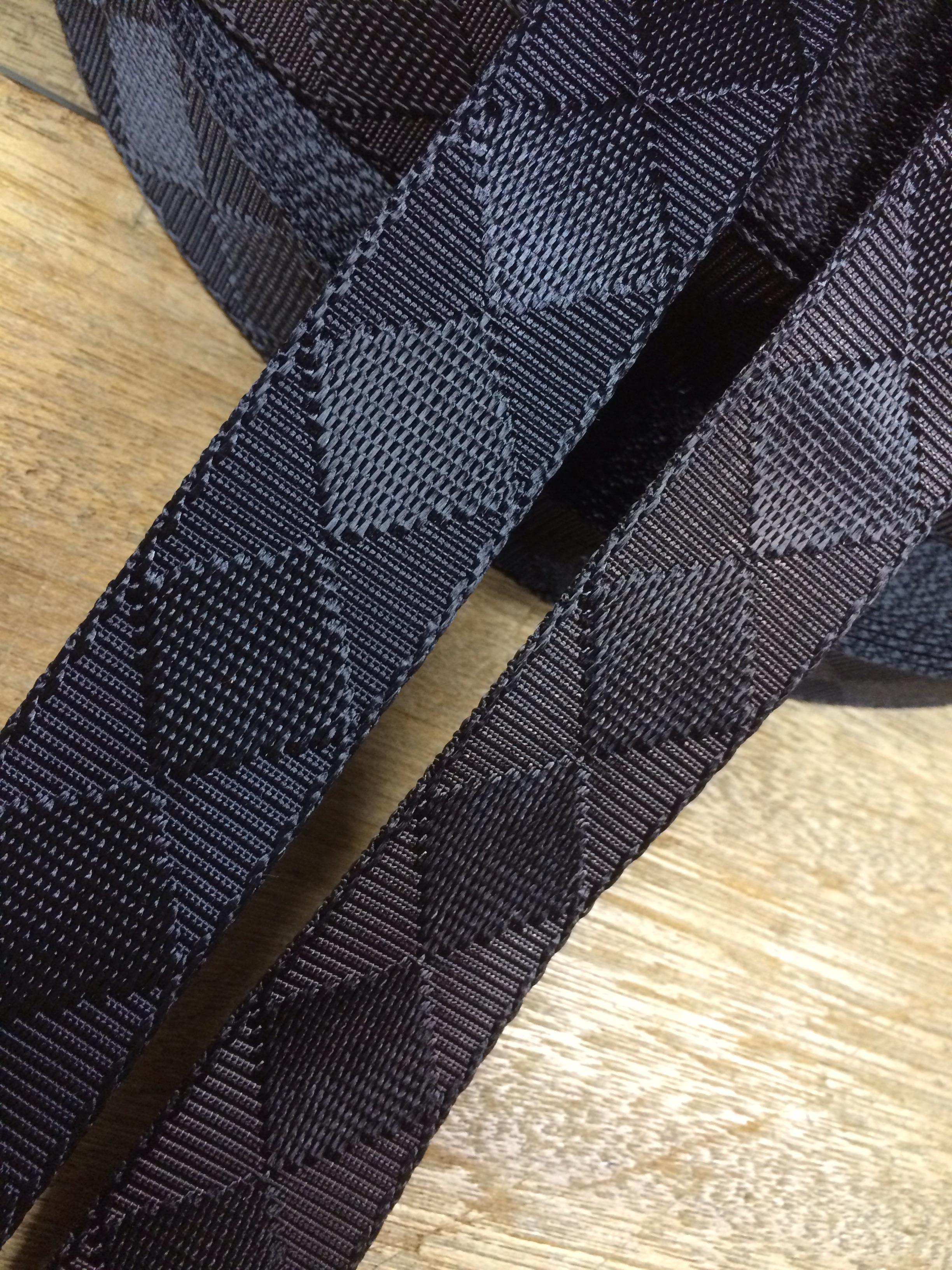 ナイロンテープ ジャガード織 市松柄 カラー  30mm幅 1m