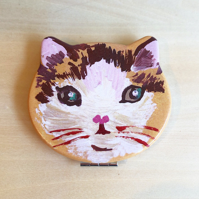 Nathalie Lete Compact Mirror Cat Toffee ナタリーレテ コンパクトミラー