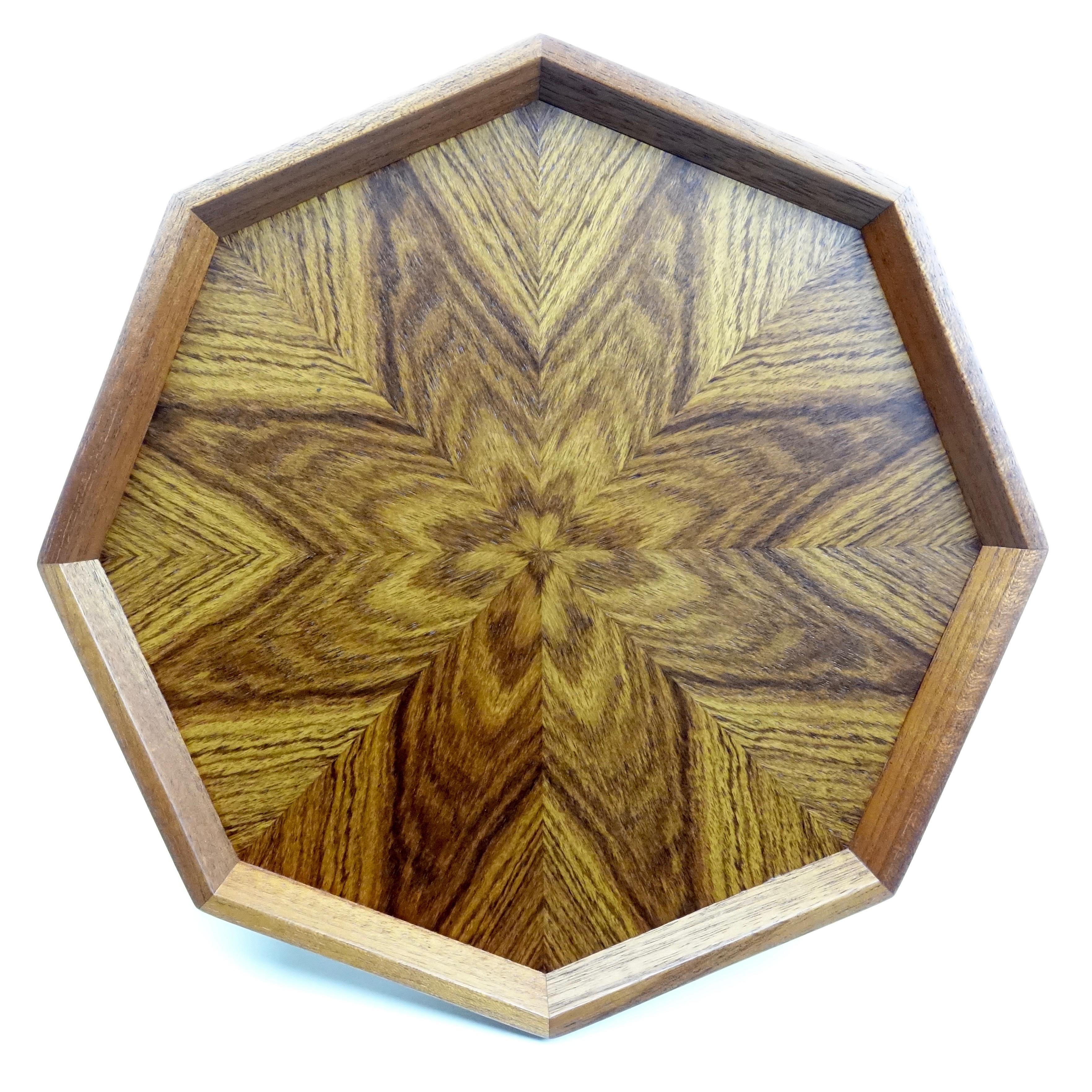 シタン 八角形のトレー OBSH-0155
