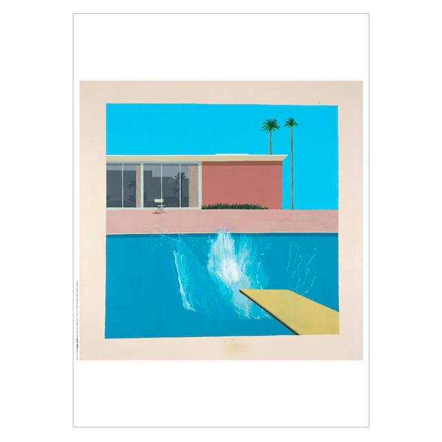 "David Hockney ""A Bigger Splash"" 1967 Poster 50×70cm"