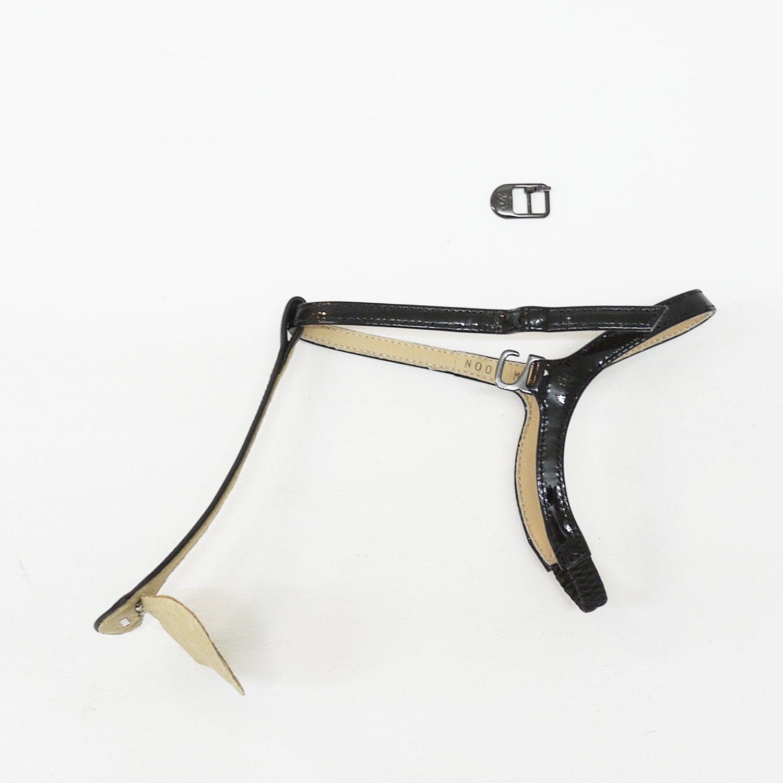 Tストラップパーツ(別売り)ブラックナチュラルレザー/ベージュレザー
