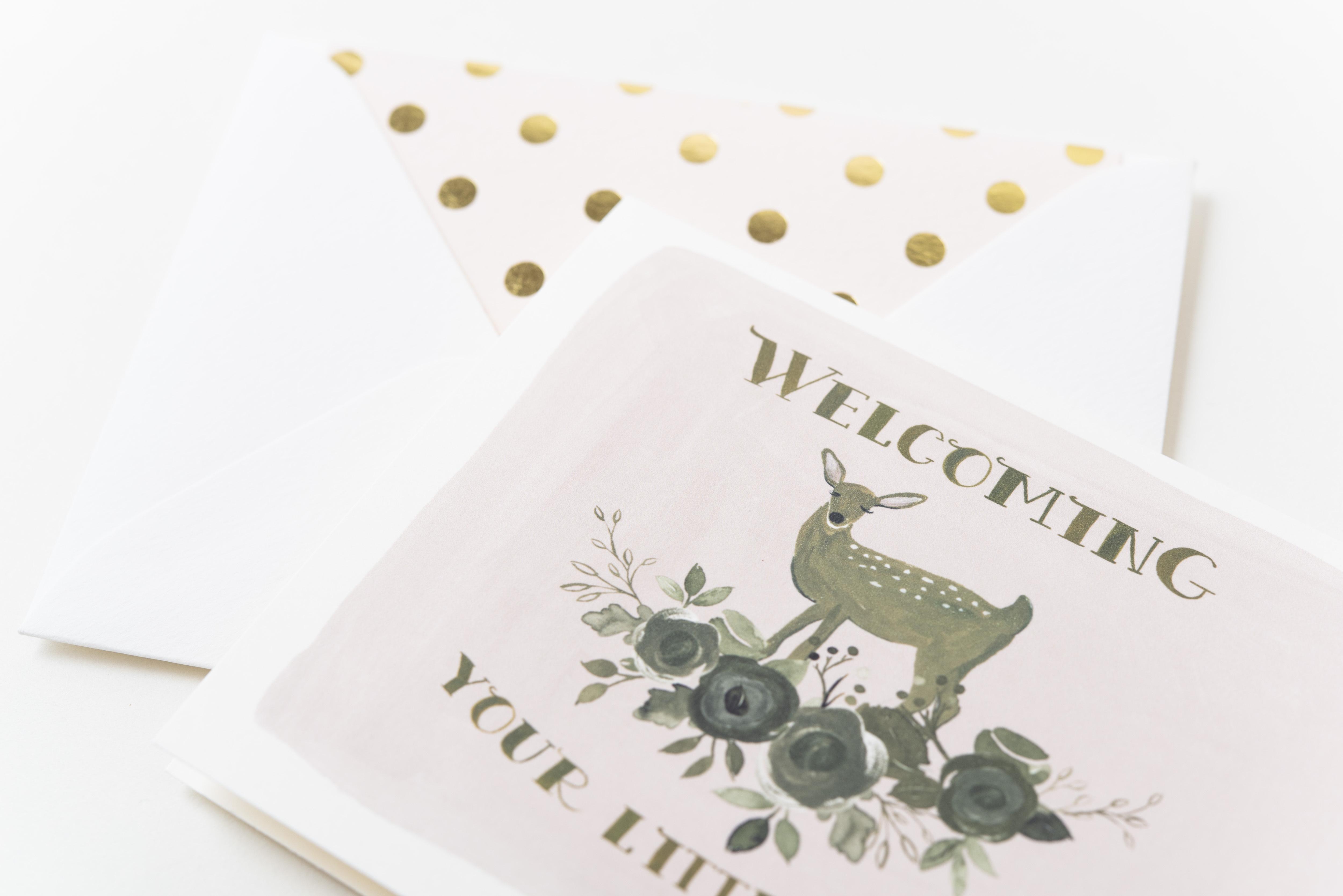 THE FIRST SNOW 出産祝いメッセージカード