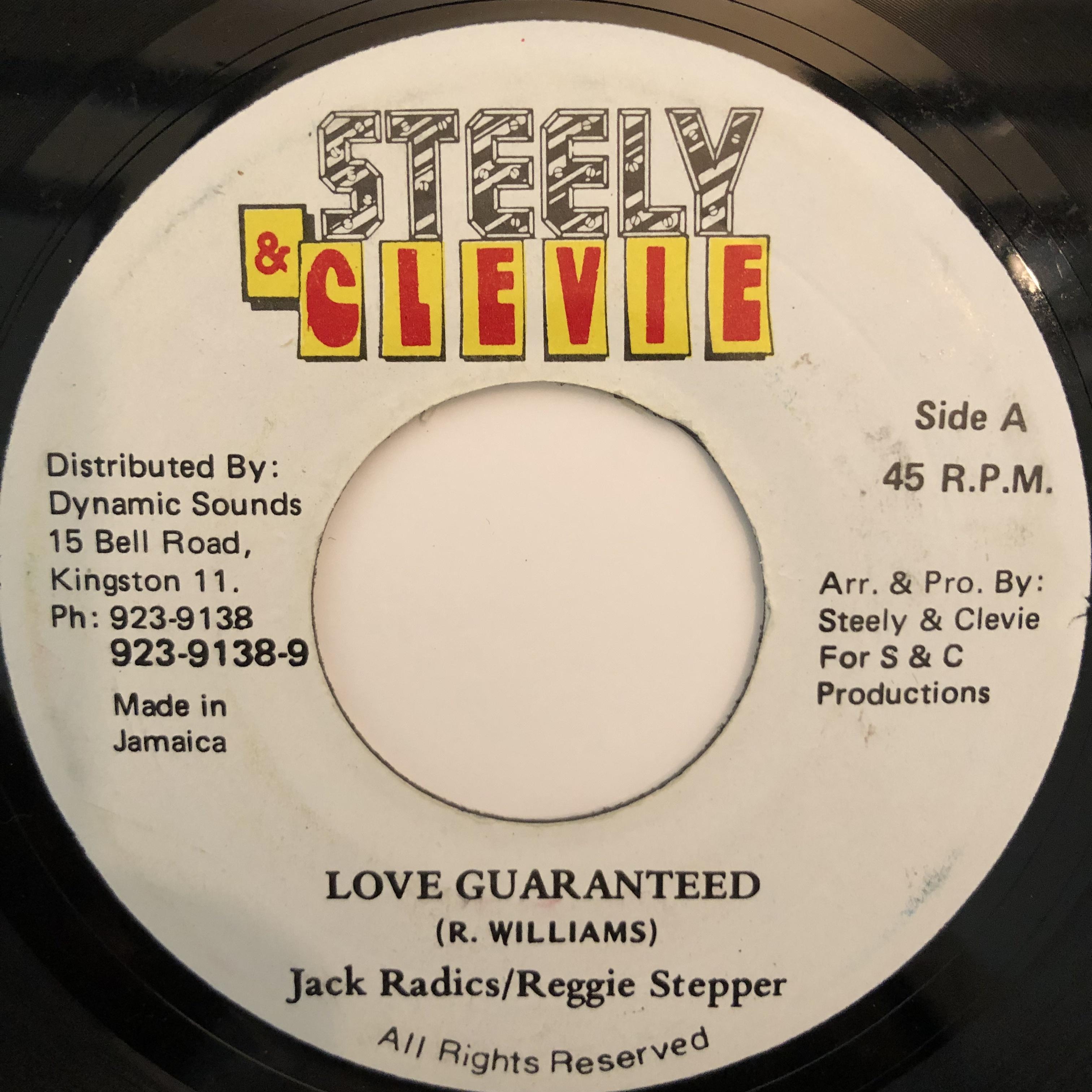 Jack Radics, Reggie Stepper - Love Guaranteed【7-20315】