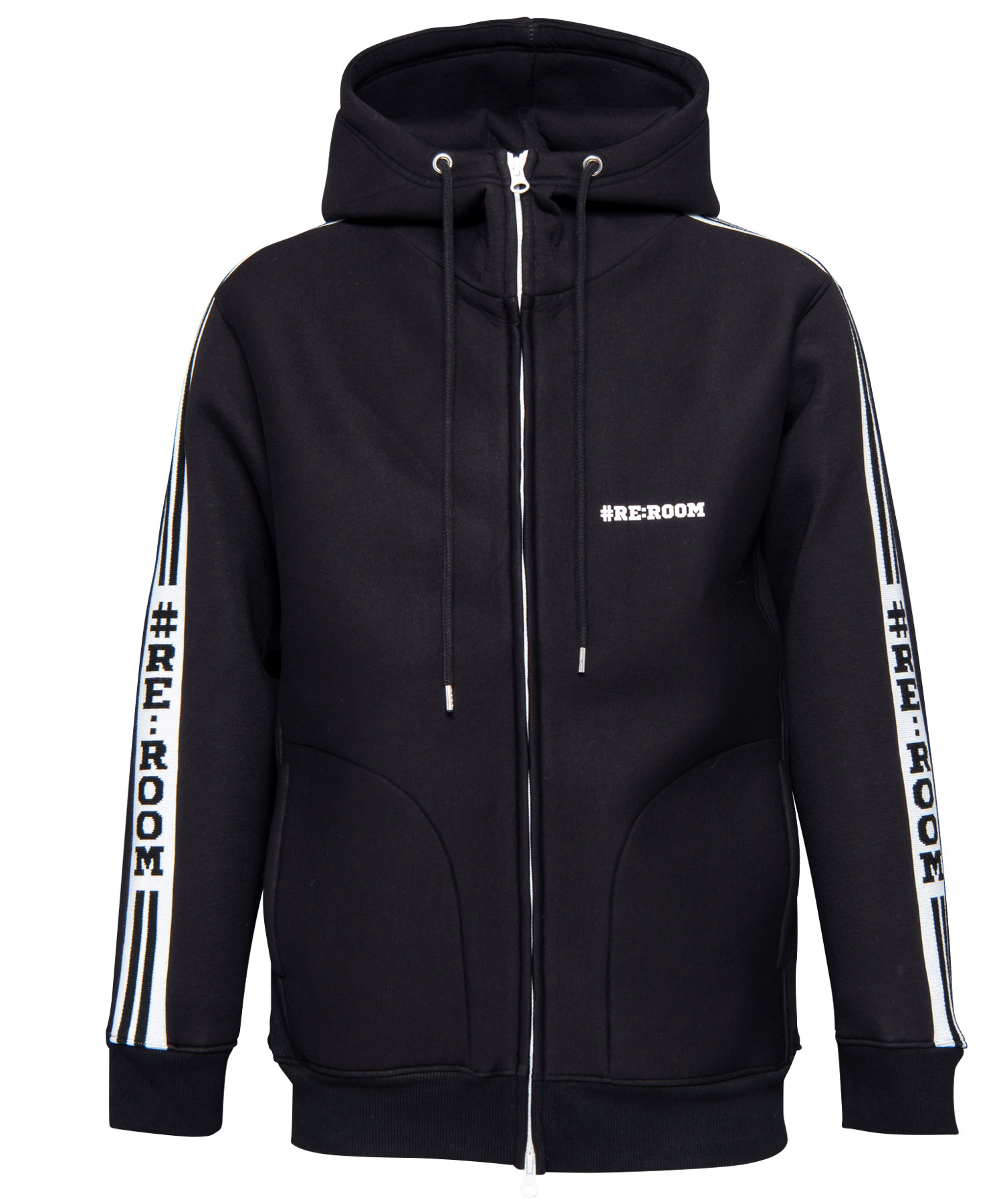 SIDE RIB LINE BONDING SWEAT ZIP PARKA[REC242]