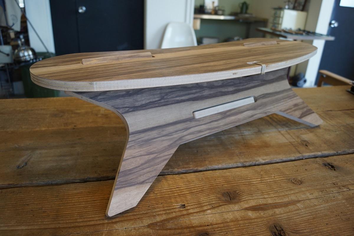 C TABLE Boomerang W800  C型テーブル ブーメラン「メラミン天板」CAMPOOPARTS 焚き火 テーブル