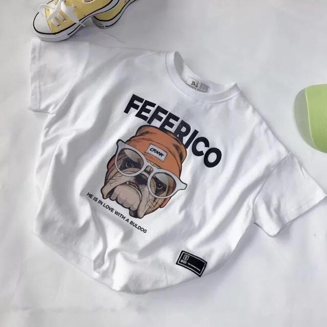 ブルドッグTシャツ ホワイト【T073】