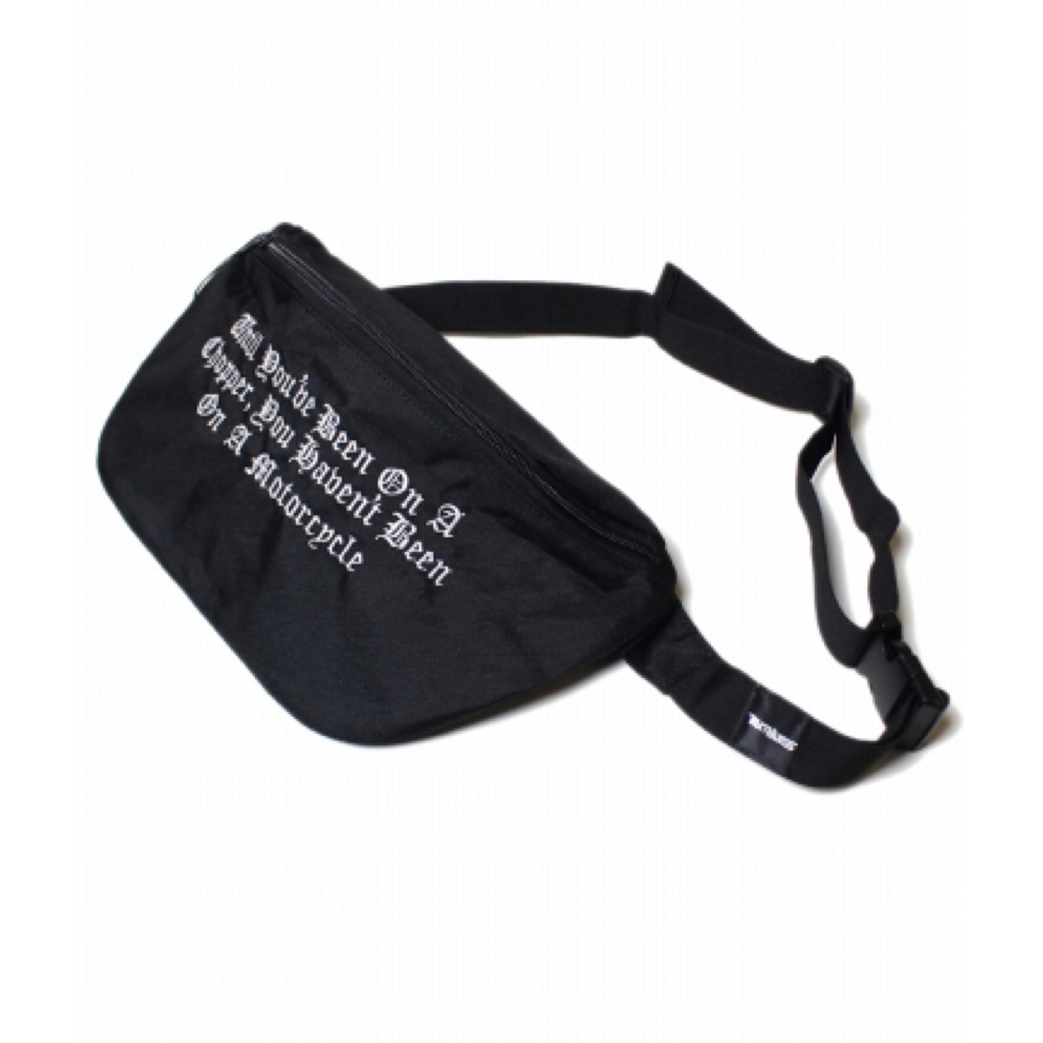 RUTHLESS #On A Chopper Body Bag Black