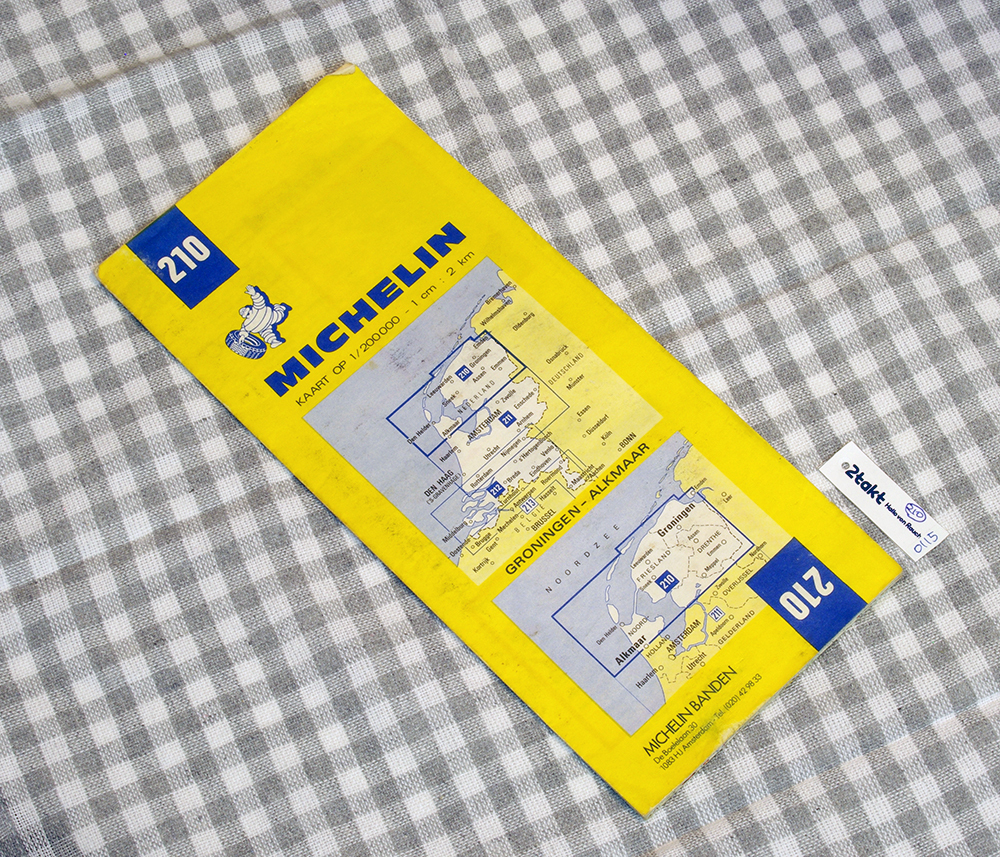 【Vintage/Used品】1986 MICHELIN MAP No.210 オランダ北部 GRONINGEN-ALKMAAR /0115