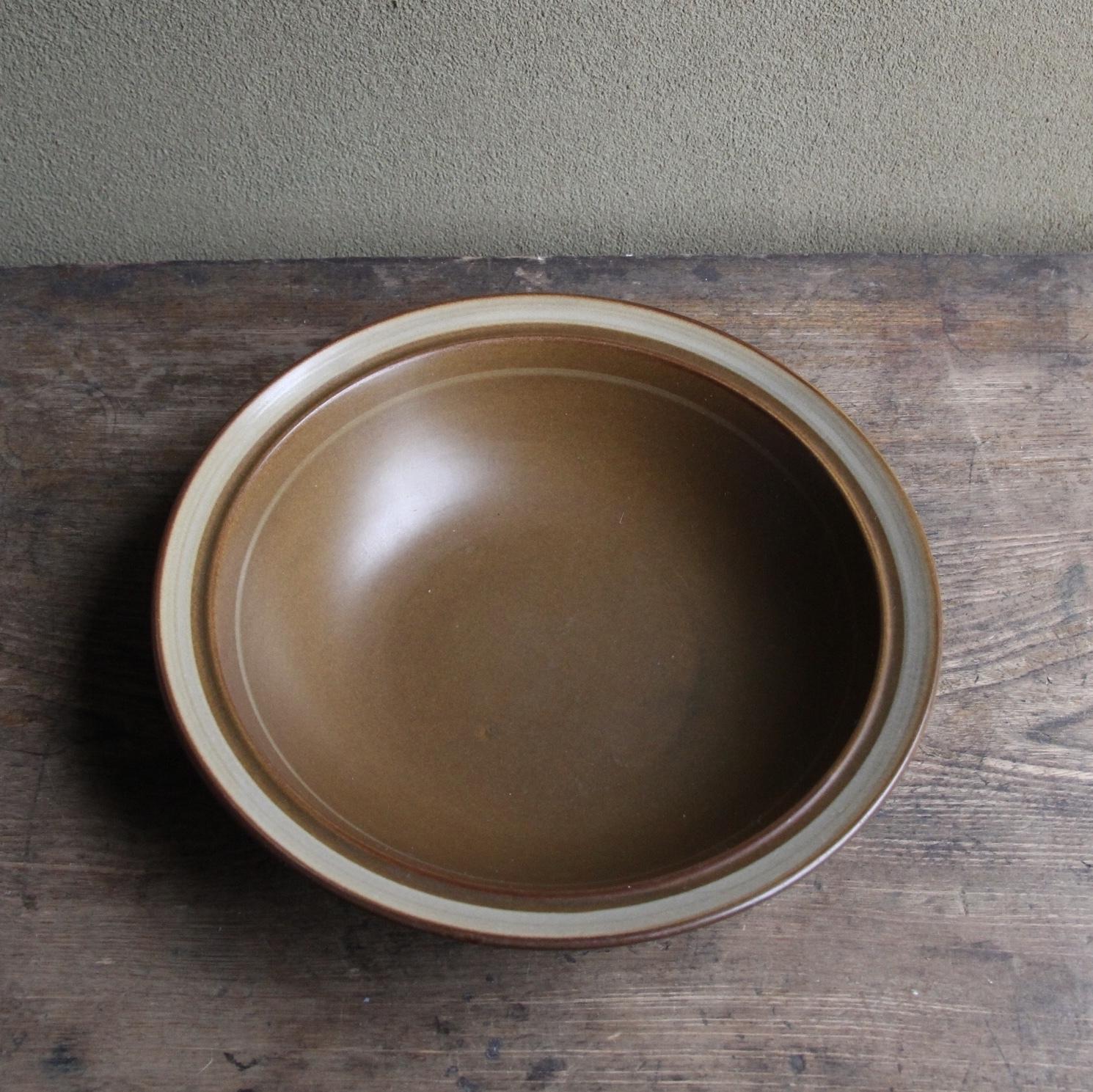 マロン色のストーンウェア ボウル皿