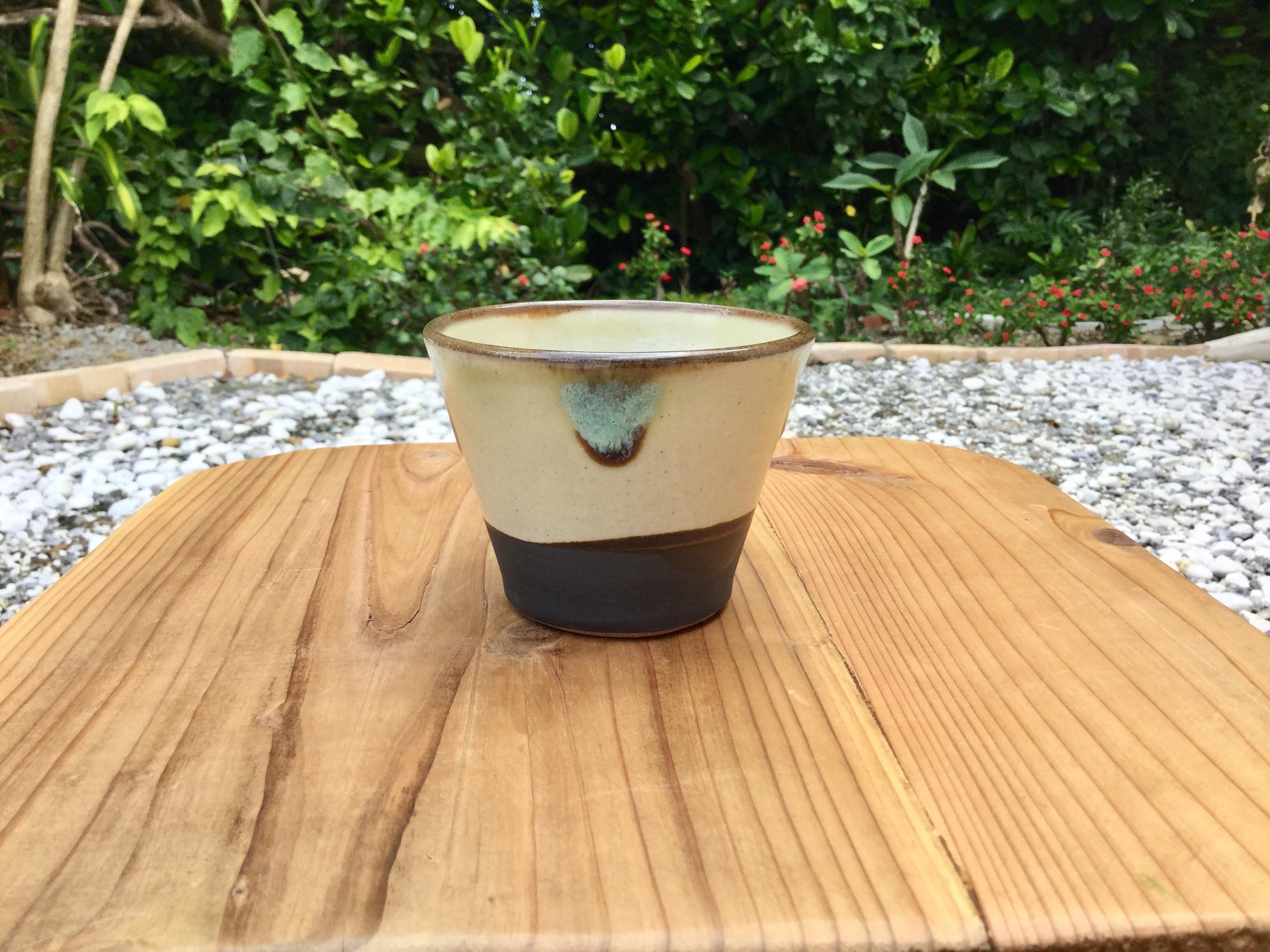 蕎麦猪口(緑釉)ノモ陶器製作所