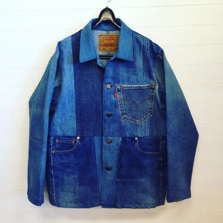 オリジナルデニムパッチワークジャケット 2