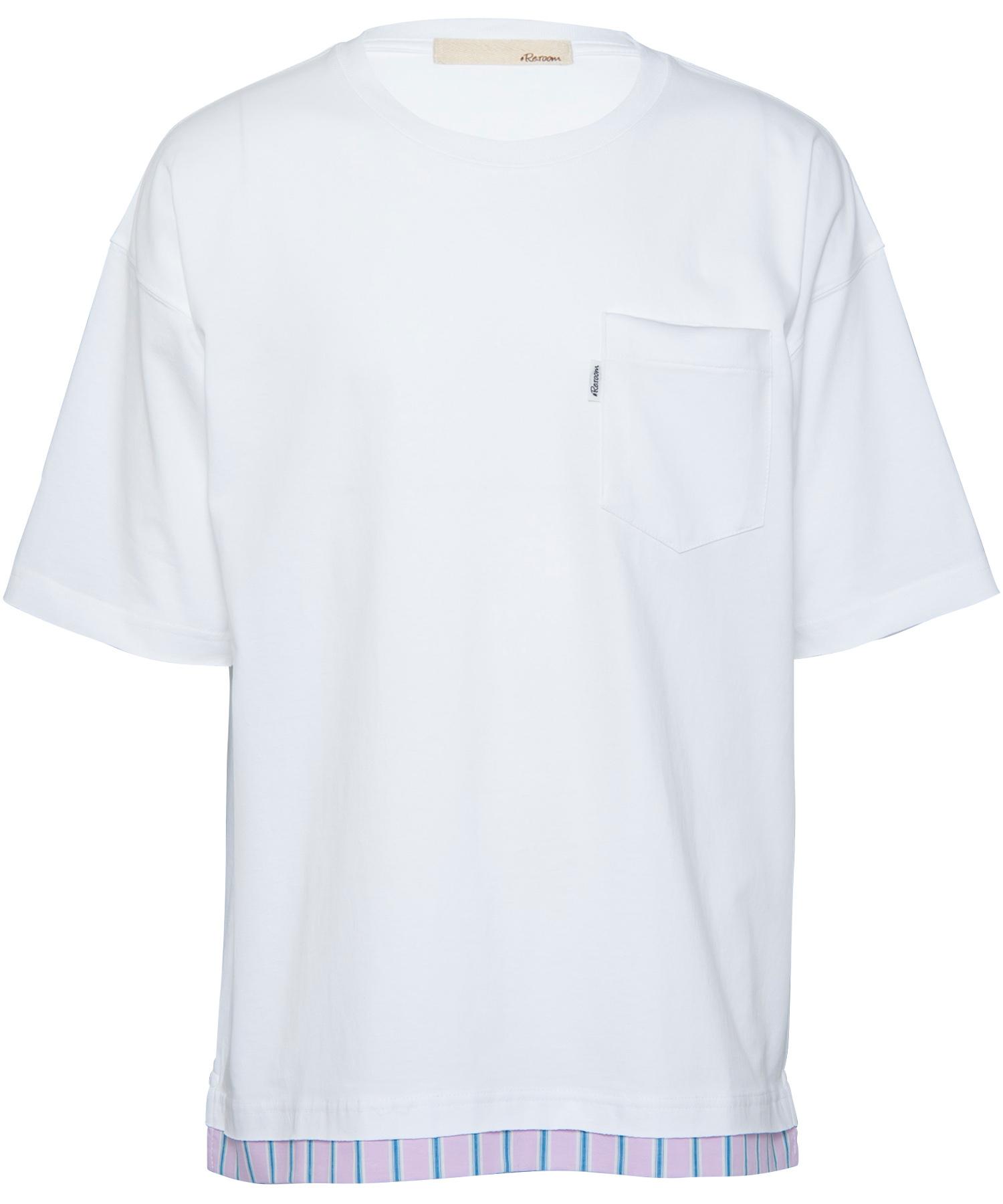 LAYERED STRIPE BIG T-shirt[REC275]