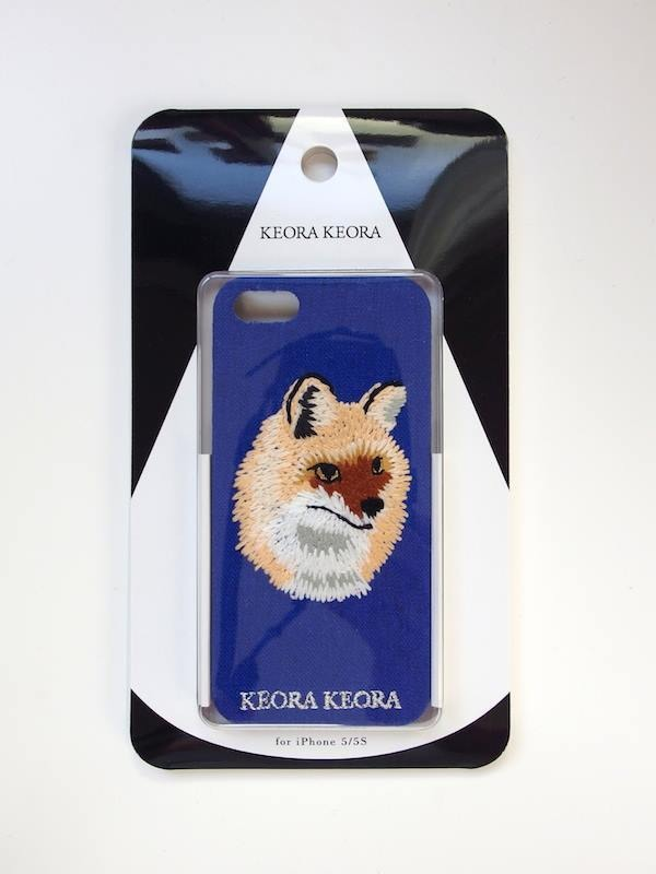 【KEORA KEORA】刺繍iPhone6/6Sカバー(キツネ)