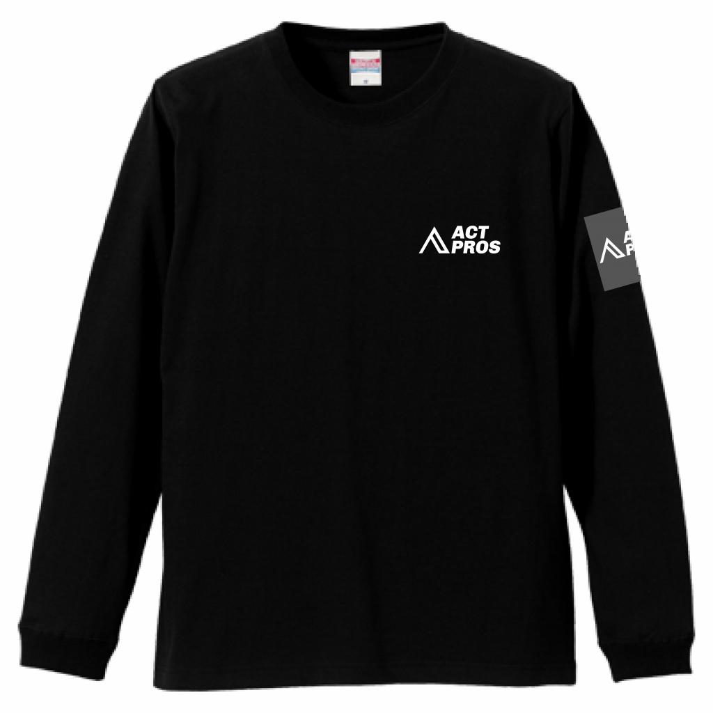 【UNISEX】ACTPROS オリジナルロゴ 5.6oz 長袖Tシャツ(1.6インチリブ)【4colors】