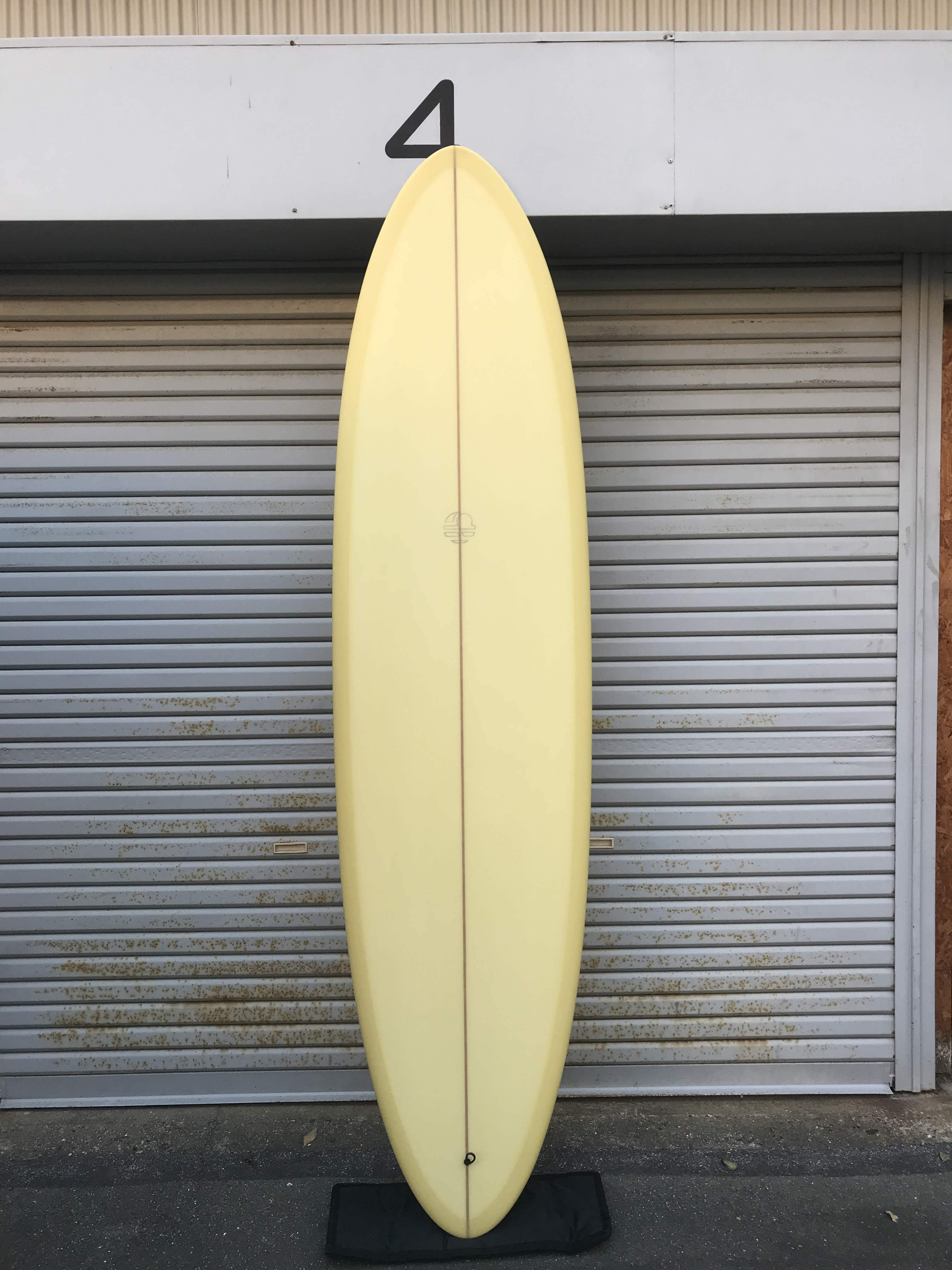 """李様専用【MITSVEN SURFBOARDS】ミツベンサーフボード サンディエゴエッグ 7'6"""" シャンパン  ミッドレングス"""
