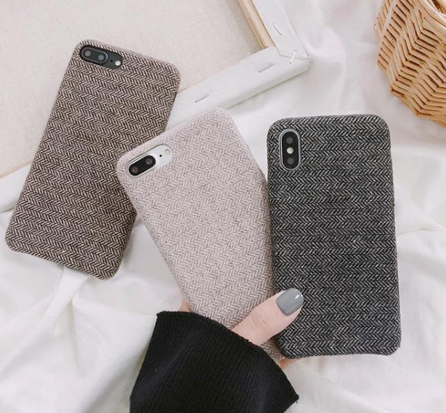 【お取り寄せ商品、送料無料】お洒落な布地 iPhoneケース