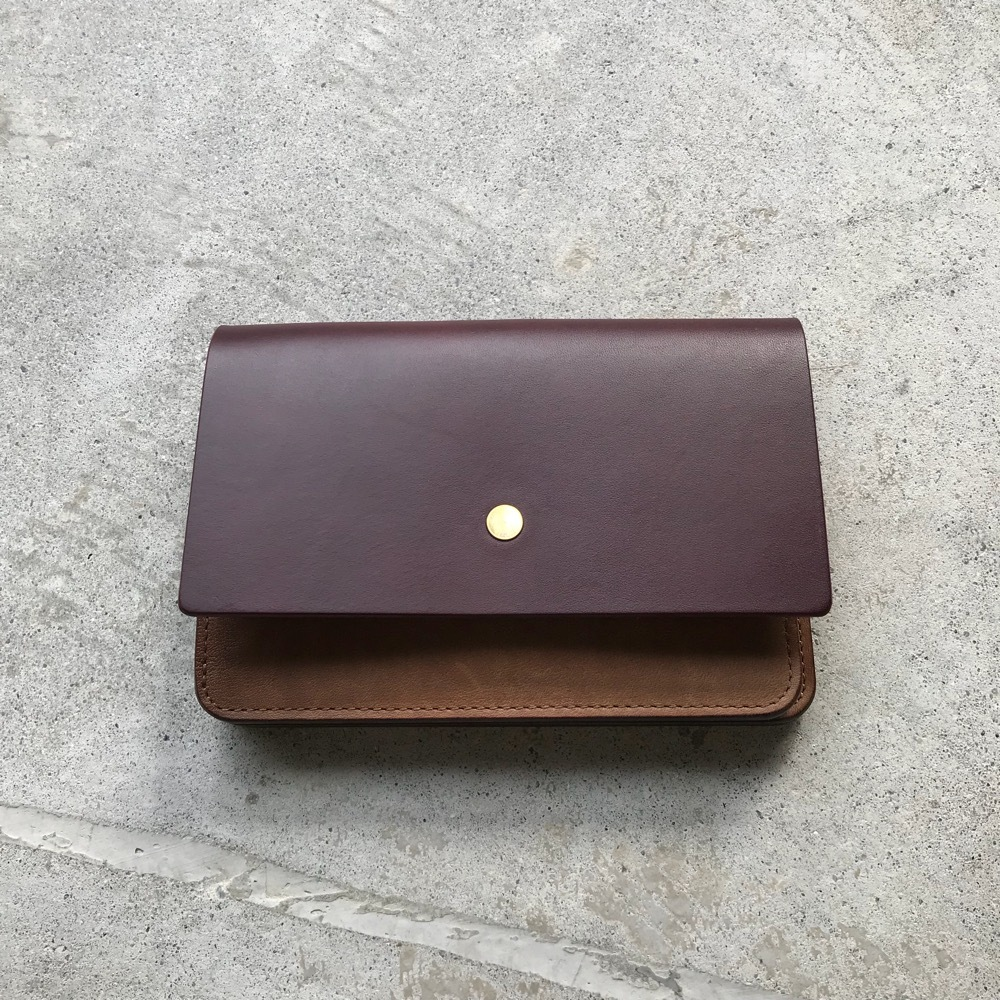 forme Hand wallet combi Buttero Burgundy