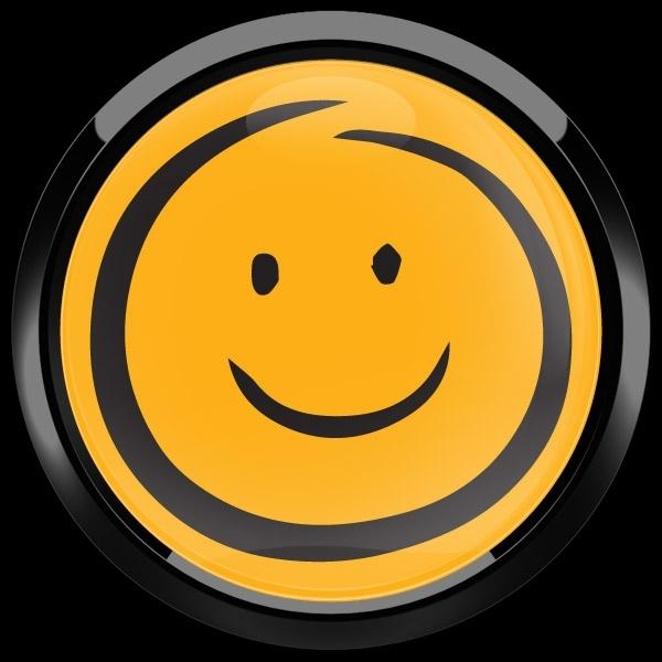 ゴーバッジ(ドーム)(CD1089 - EMOJI SMILE HAND DRAWING) - 画像2