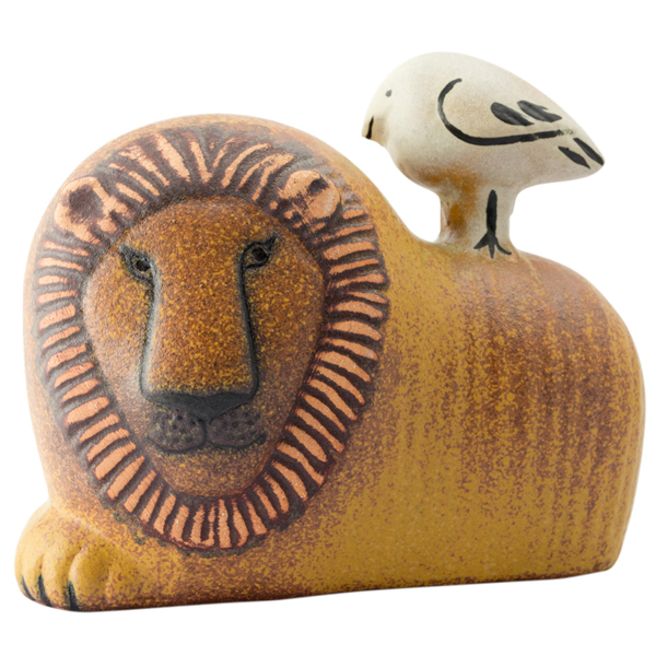 Lisa Larson Lion with bird