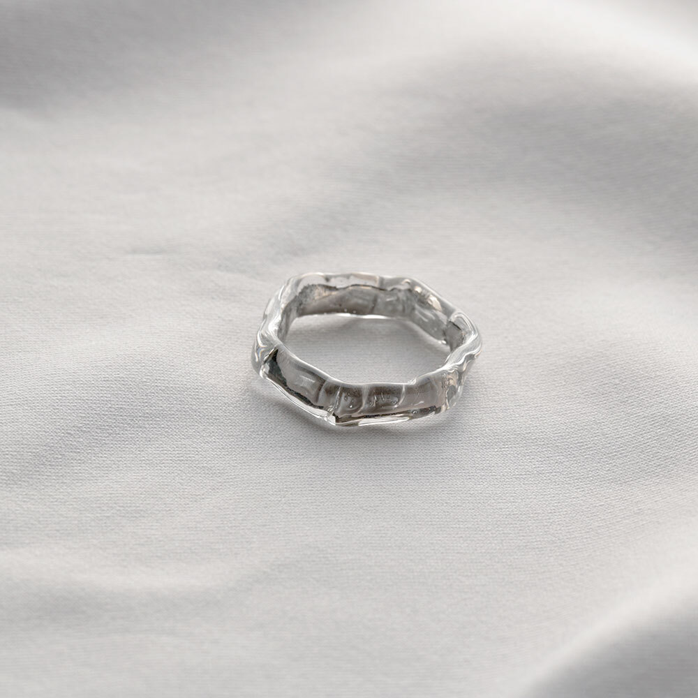 honeycomb ring platinum