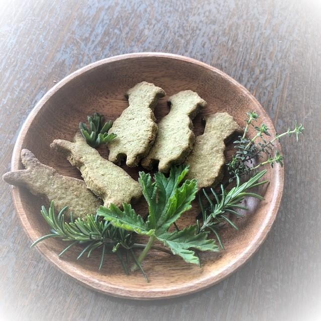 スペルト小麦使用★ハーブ香る動物クッキー(夏みかん)