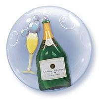 ダブルバブル(バブリーワインボトル&グラス)