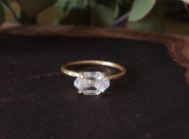 Y様オーダー 原石のダイヤモンドクォーツのリング
