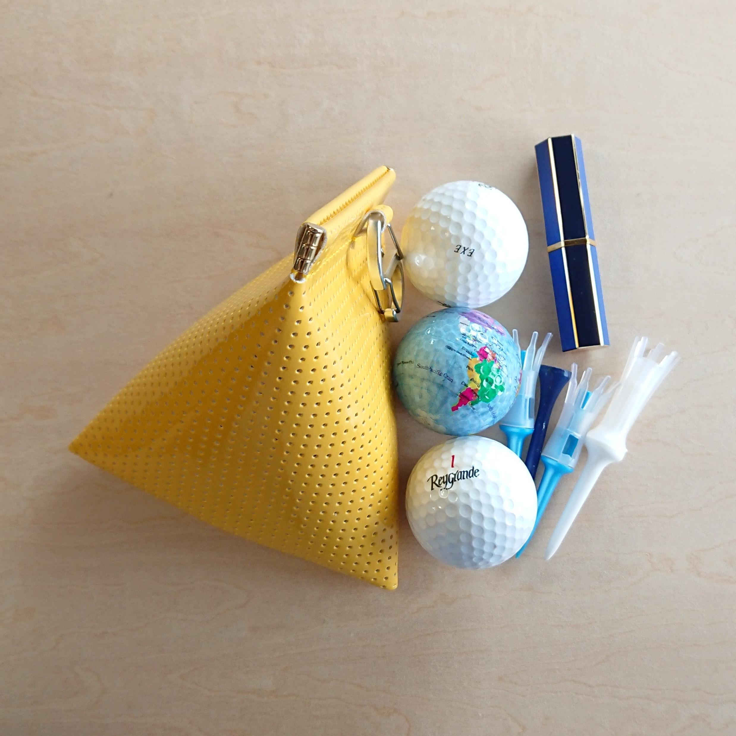 ゴルフボールケース☆ボール3個用 ミモザ