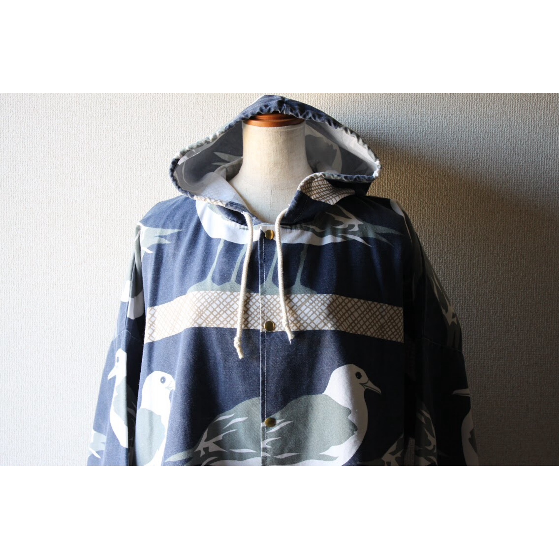 Vintage hooded jacket by Michigan rag co.