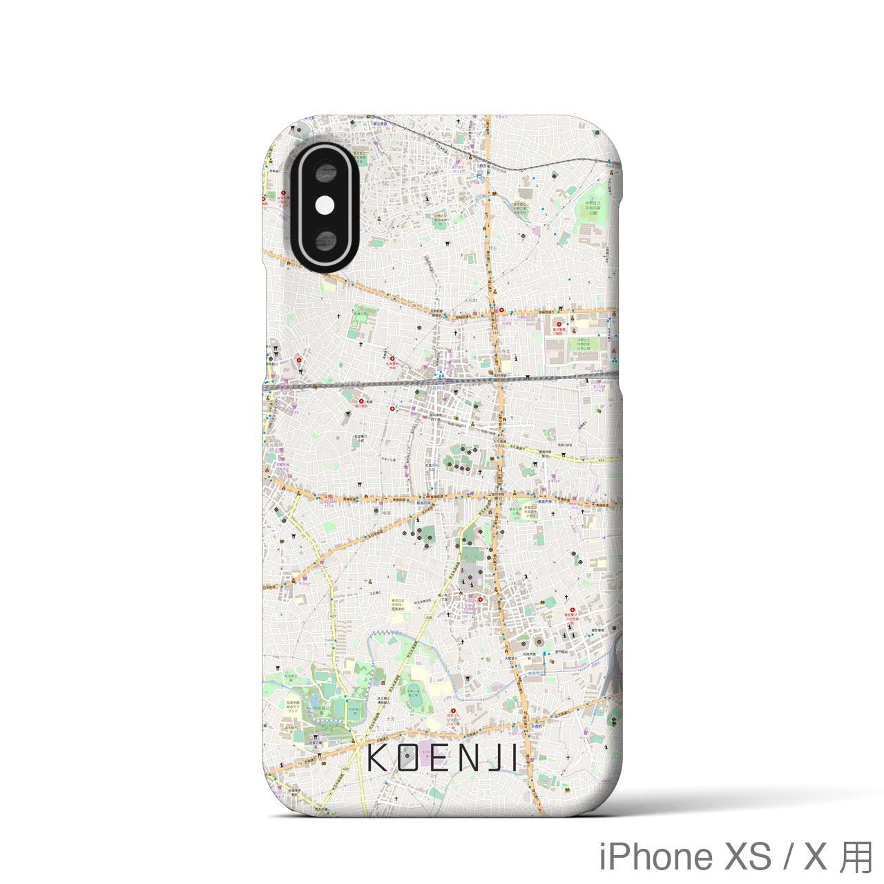 【高円寺】地図柄iPhoneケース(バックカバータイプ・ナチュラル)