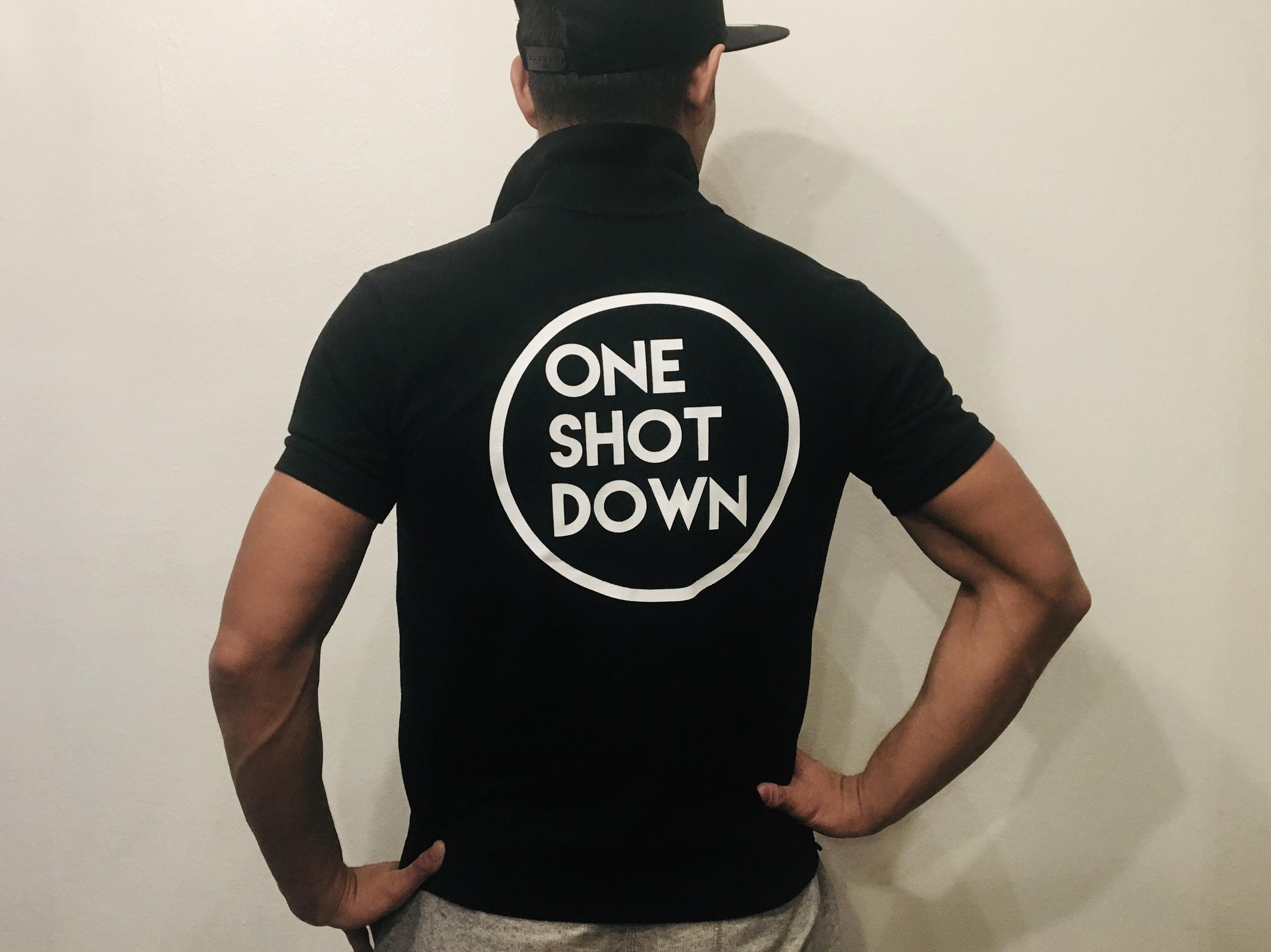 ONESHOTDOWN サークルロゴポロシャツ - 画像3