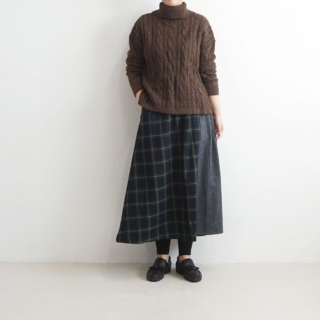 NARU ナル ケーブル編みタートル 【返品交換不可】 (品番634615)