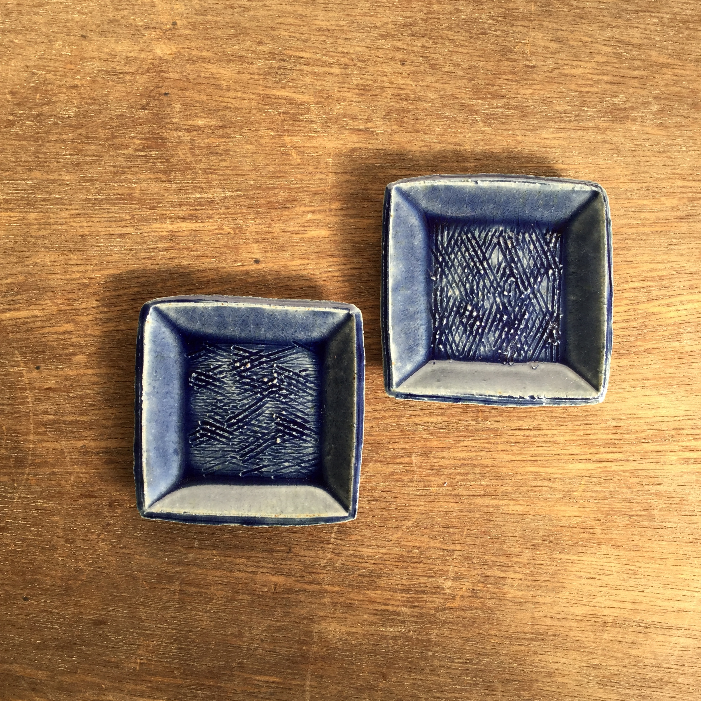 【蓮見かおり】 角豆皿 Φ9㎝×9cm 13 - 画像1