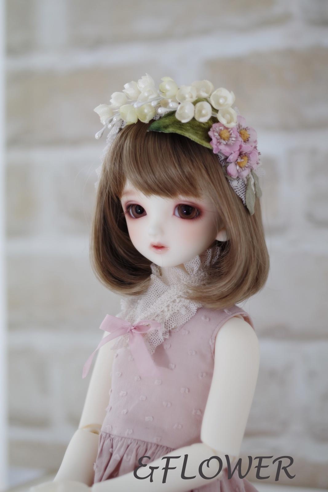 40cmサイズドール用ヘッドドレス(鈴蘭と野薔薇)