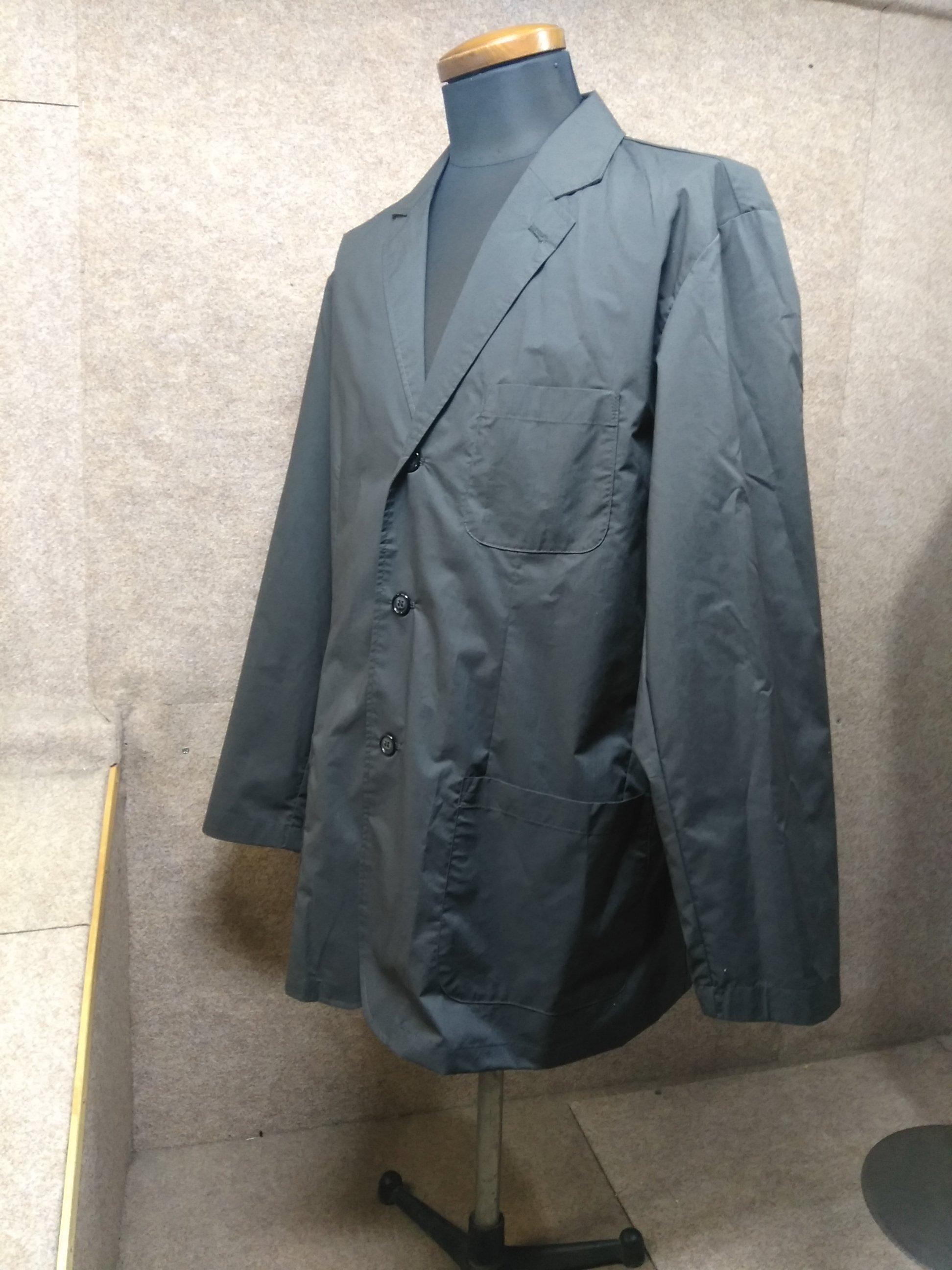 ビアスポ beaspo コート ジャケット 薄手 濃グレー L mh658E