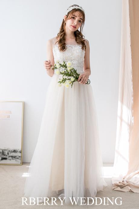 エンパイアドレス ナチュラル 2次会 花嫁ドレス 撮影 挙式 妊婦さんに
