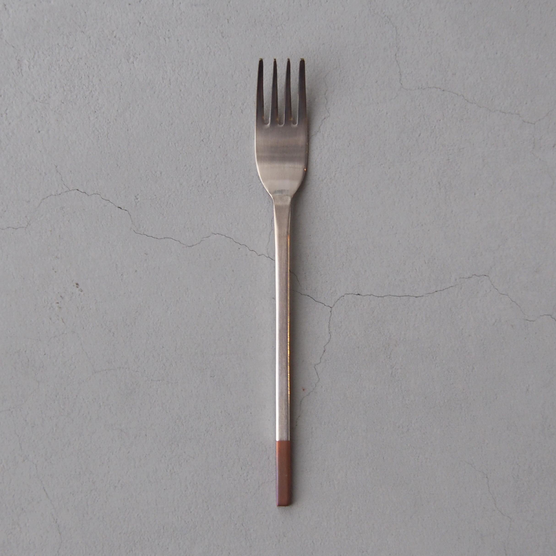 アイザワ 純銅洋食器 デザートフォーク 銀仕上