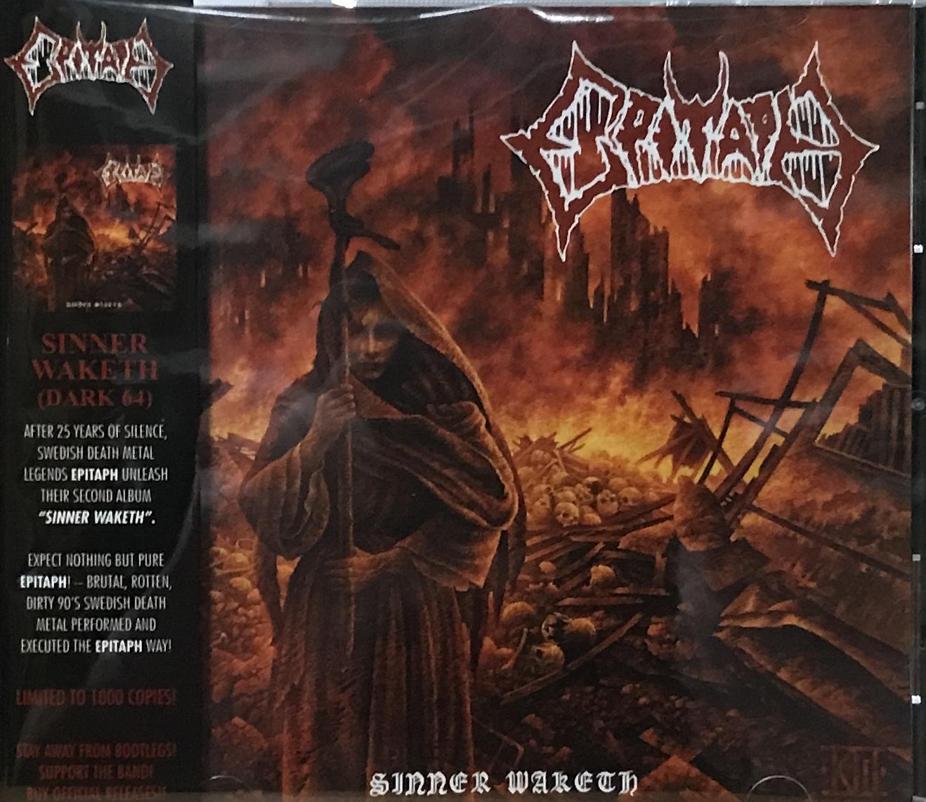 "EPITAPH (Swe) ""Sinner Waketh CD"""