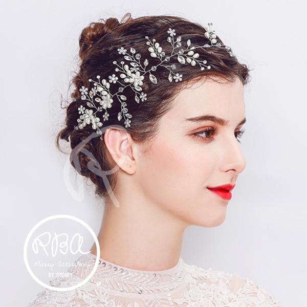 Rba00004 ヘッドドレス 結婚式 ヘアアクセサリー 結婚式 お呼ばれ 2次
